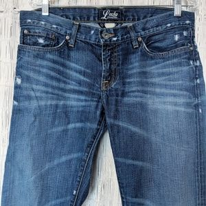 Lucky Brand Distressed Riley Jeans Straight Leg
